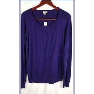 NwT Worthington  Sweater Purple Suspense Sz lrg